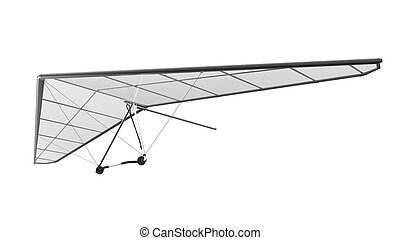 Hang Glider Isolated on White Background. 3D render