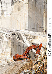 white marble quarry in carrara tuscany