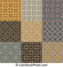 Set of background seamless celtic p - The vector image Set...