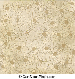 Floral seamless pattern in autumn colors - Floral creative...