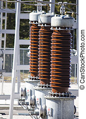 Electric distribution substations - close detail