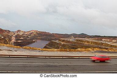 Rio Tinto mine - Copper mine open pit in Rio Tinto, Spain
