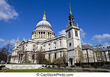 St Pauls Cathedral and the Tower of the former St Augustine...