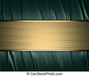 Gold Background with gold nameplate for writing.