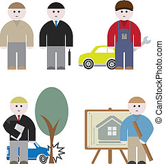 Workers. Vector set for you design