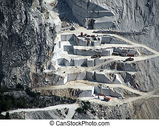 marble quarry in carrara italy...