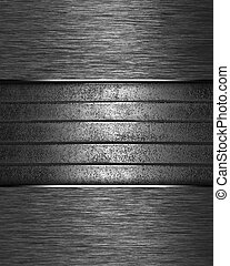Metal Background with metal nameplate for writing. - The...