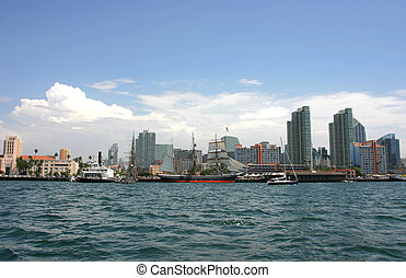 San Diego Skyline from the Water