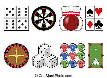 Set casino tools.