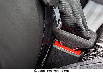 Safety belt installed in the car