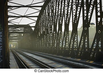 Railway Bridge - Old railway bridge, Prague