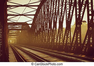 Railway Bridge - Old railway bridge - sunset light