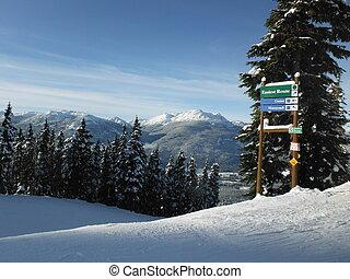 Ski run in Whistler, Vancouver