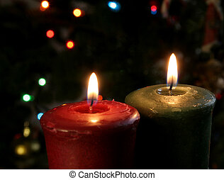 Pair of Christmas Candles