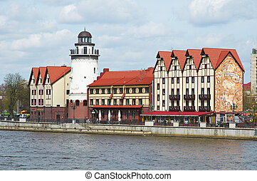 Fishing Village. Ethnographic and trade center in...
