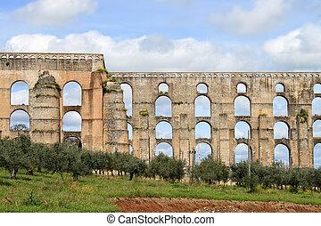 Aqueduto da Amoreira, Elvas, Portugal - Aqueduct in Elvas...