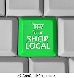 Shop Local Computer Key Shopping Cart Support Community - A...
