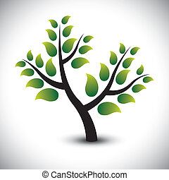 Abstract beautiful evergreen tree in a garden - vector...
