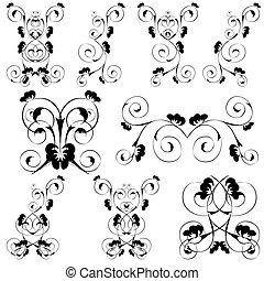 design set of nine swirls
