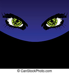 Mystery eyes vector illustration