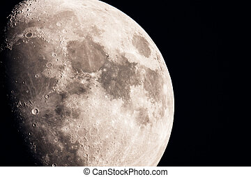 The Moon - extremely close up view of the moon