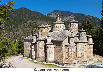 Church of the Holy Cross at Doliana village of the Pindos...