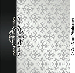 Black and silver floral book cover