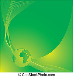 Earth in green background vector illustration. As base used...