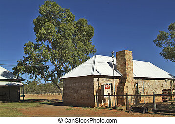 Australia, Alice Springs - die alte Telegrafenstation aus...