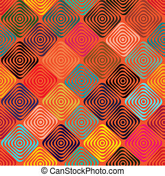 Endless pattern with squares