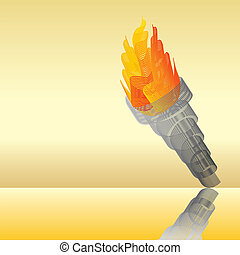Flaming torch abstract illustration