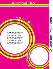 Newsletter template background vector illustration