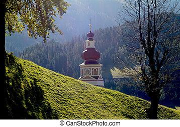 Austria, Carinthia - Austria, church spire of pilgrimage...
