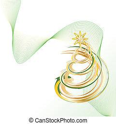 Christmas tree - Shiny Gold Christmas Contemporary Tree...