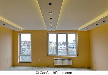 Look of room with LED lighting - Look of renovating freshly...