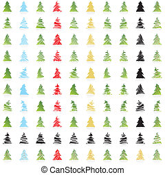 ICON Vector christmas trees - ICON Vector DESIGN COLLECTION...