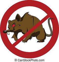 No big rats - Vector image with simbol of big rat
