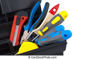 Tools in the case.