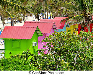 Beach bungalows - Colorful beach bungalows on Princess Cays...