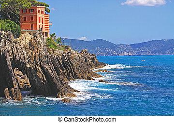 Genova-Nervi, Italy - passeggiata Anita Garibaldi -...