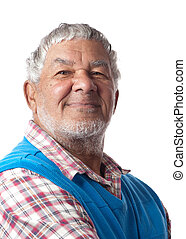 Friendly senior citizen - A friendly retired citizen is...