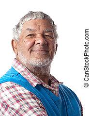 Friendly senior citizen - A friendly retired citizen is...