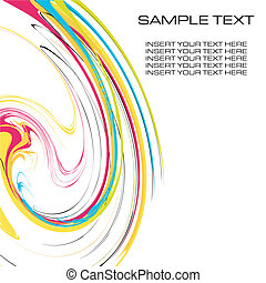 watercolor contemporary design template background vector...