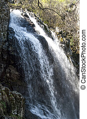 Vernal waterfall - Landscape with vernal waterfall in sunny...