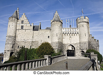 The Steen castle in Antwerp - Close-up of the Steen castle...