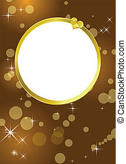 Golden frame background
