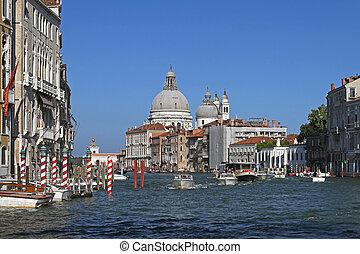Grand Canal Venice - The Grand Canal and Santa Maria della...