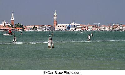 Venetian Lagoon - Historic site of Venetian Lagoon cityscape...