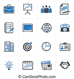 Business and Office Icons - Set of 16 business and office...