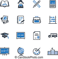 School and Education Icons 1 - Set of 16 school and...